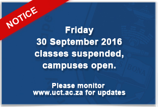 Campus Closed 30 September 2016
