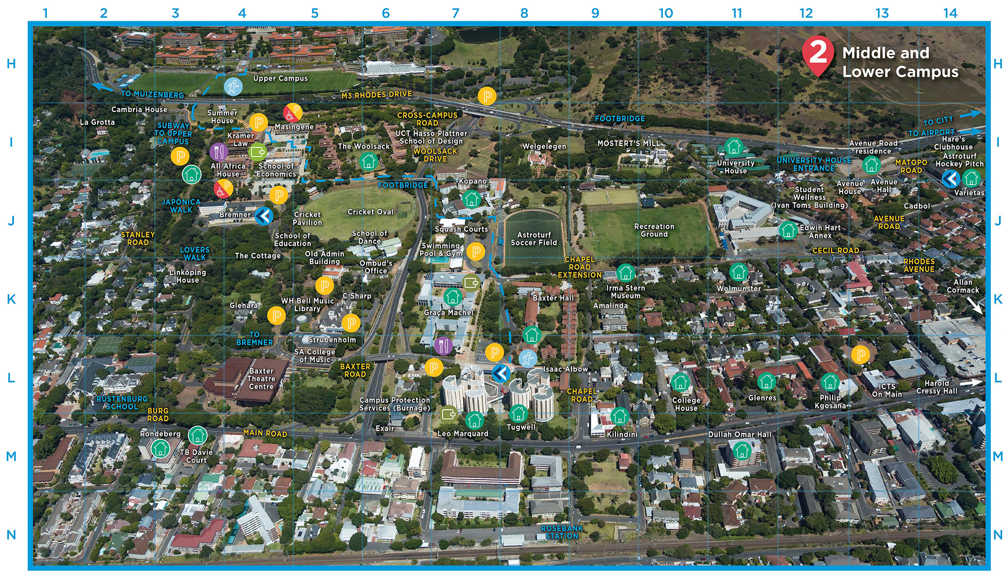 Applied Materials Campus Map.Building Departments Offices Uct Students