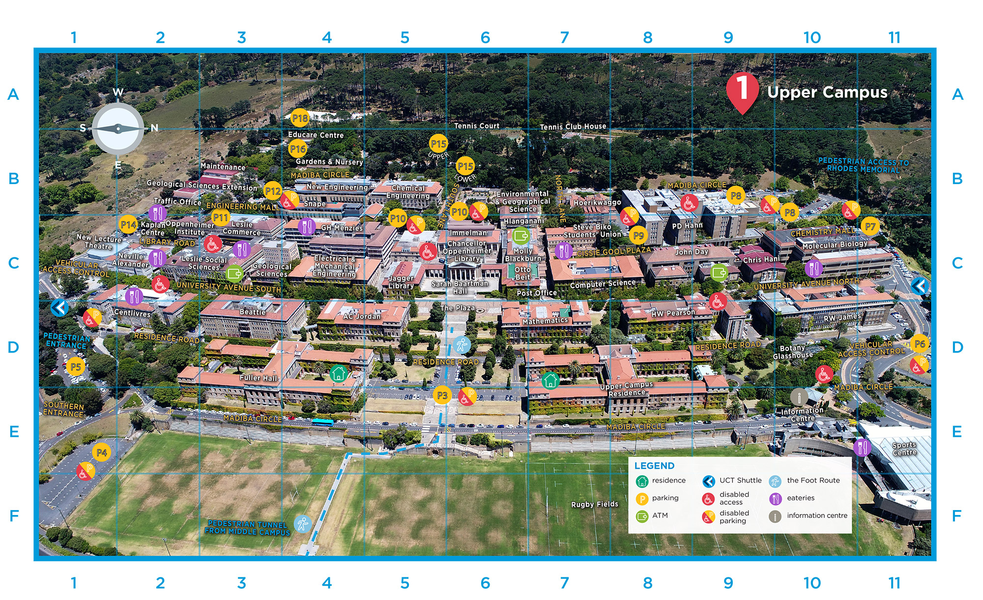 St Johns Campus Map.Campus Maps University Of Cape Town