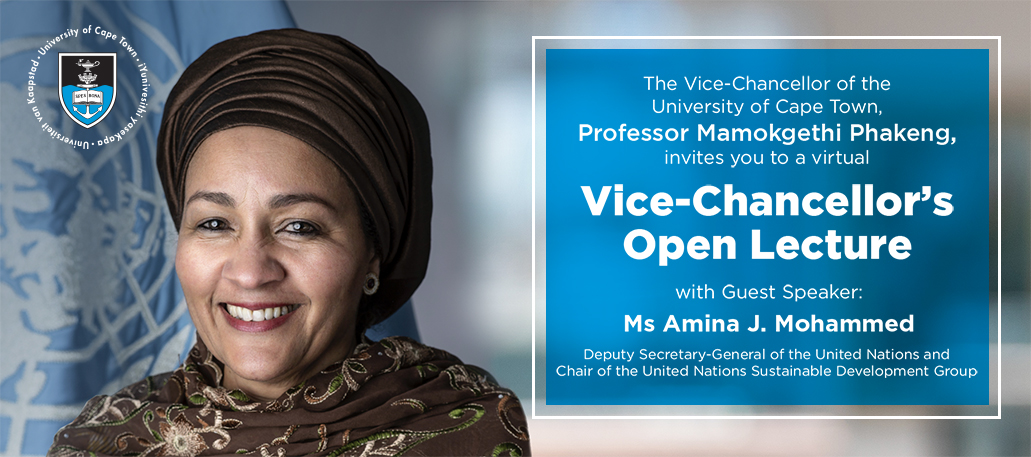 Vice-Chancellor's Open Lecture with Guest Speaker Amina J. Mohammed