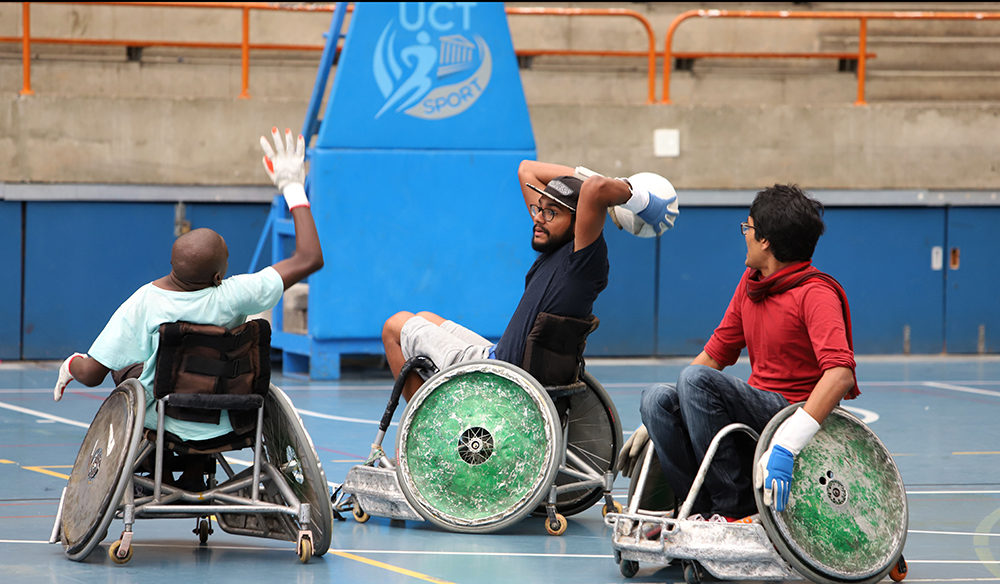 Wheelchair rugby. Photo: Michael Hammond