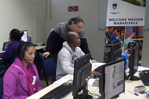 UCT Phonathon callers in training