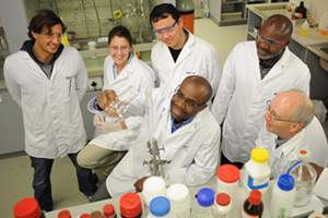 Dr Kelly Chibale and his team