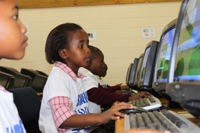 Student at the learning centre