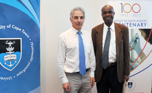 Vice-Chancellor Dr Max Price with Prof Kelly Chibale