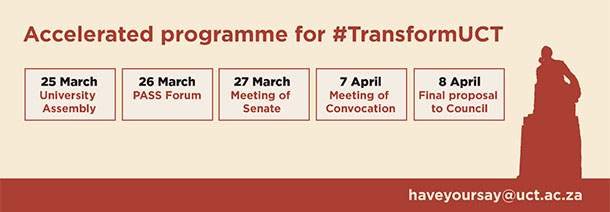 Accelerated programme for #TransformUCT