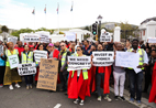 Parliament picket sparks free-education debate