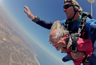 100-year-old Alumna skydiving