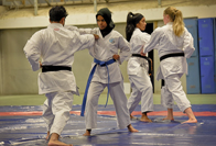 Rifqah van Schalkwyk finds peace amidst the punches as chair of UCT Karate