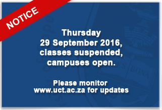 Classes suspended to  Closed 26-30 September 2016